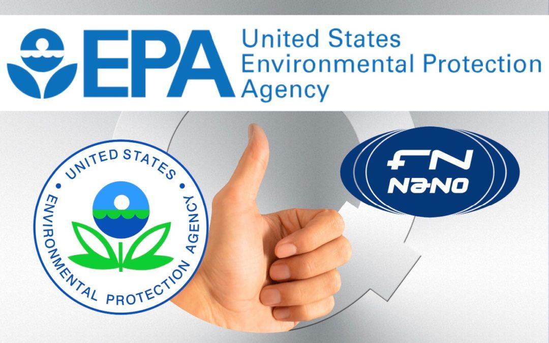 FN NANO® bylo registrováno jako součást antibakteriálního systému proti šíření epidemií v USA